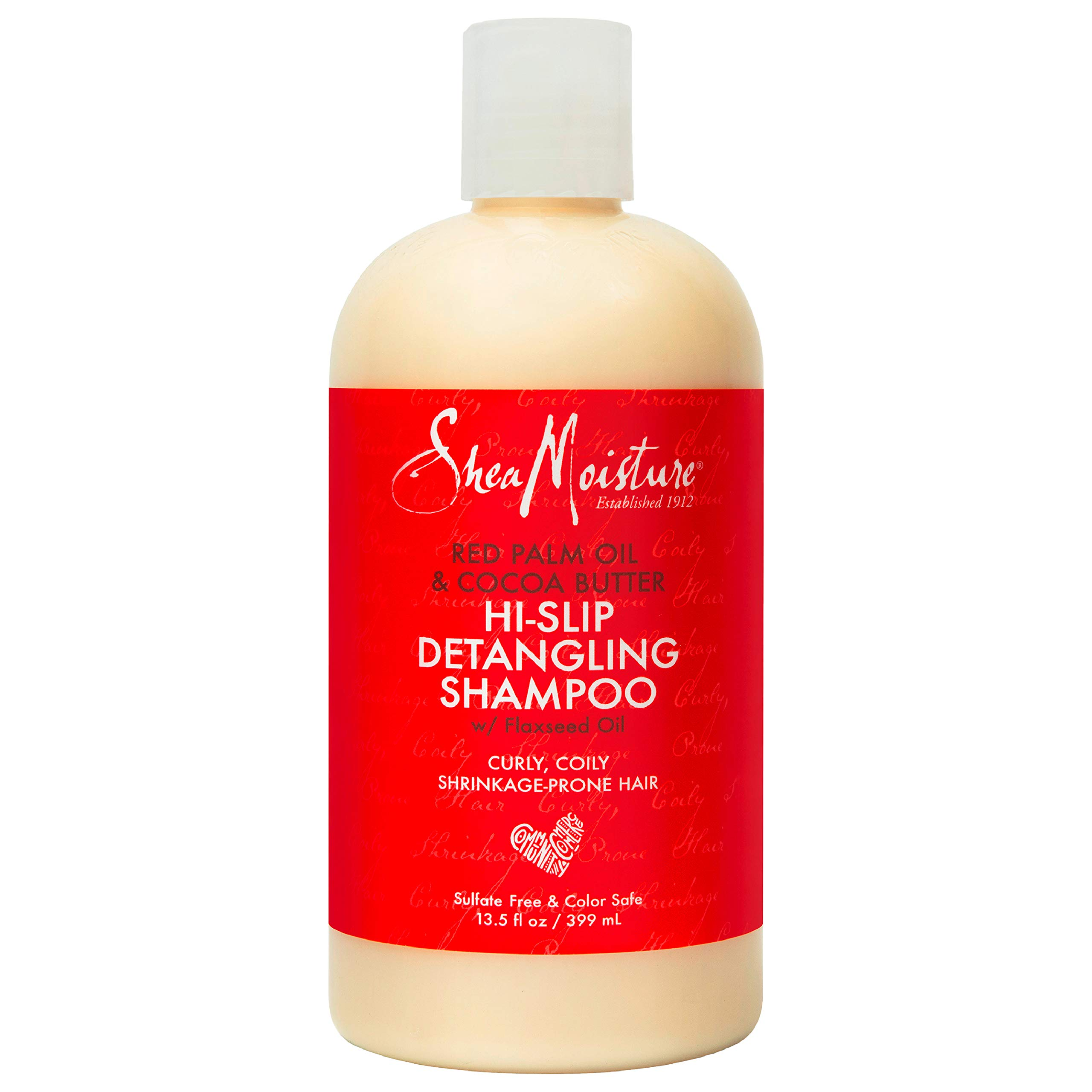 Sheamoisture Detangling Shampoo for Dry Hair Red Palm Oil and Cocoa Butter with Shea Butter 13.5 oz