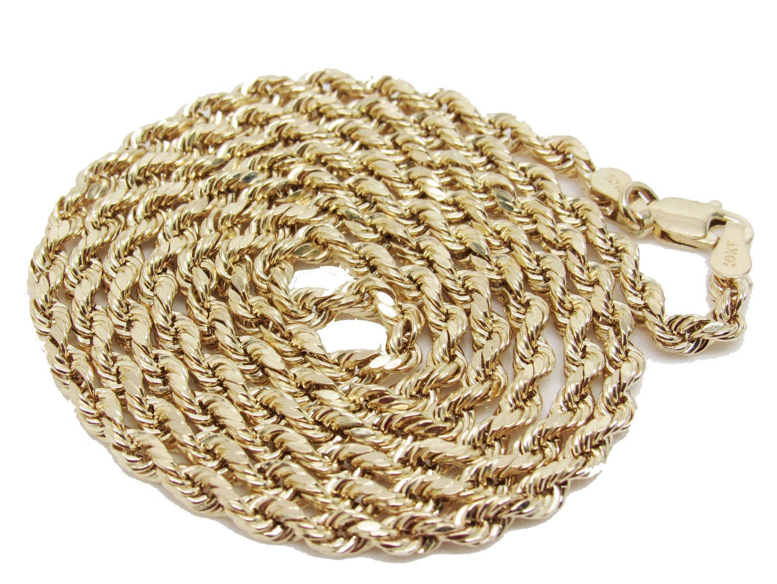 10K Yellow Gold Italian Rope Chain 30'' 3mm wide Hollow 7.4 Grams by Melano Creation (Image #2)