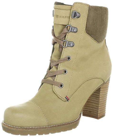 Tommy Hilfiger WILMA 4 - Botines de cuero mujer, color beige, talla 42: Amazon.es: Zapatos y complementos