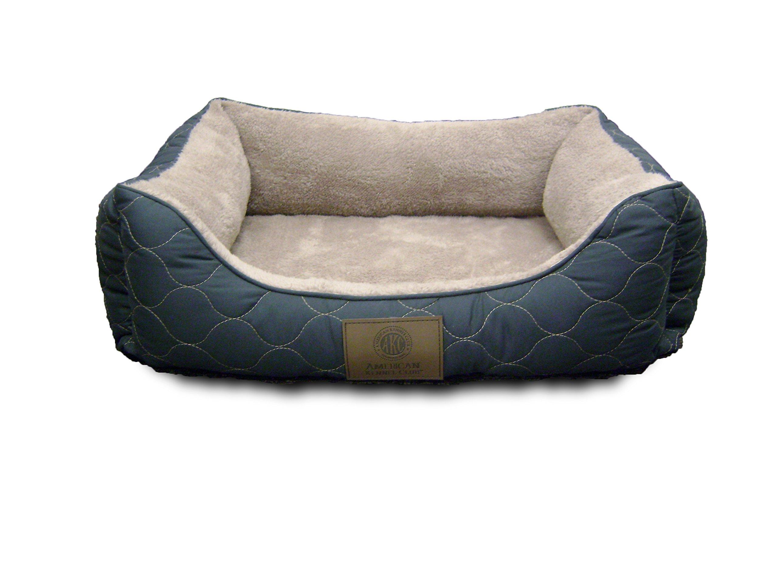 American Kennel Club Orthopedic Circle Stitch Cuddler Pet Bed, Gray