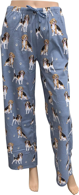 Large Schnauzer Unisex Lightweight Cotton Blend Pajama Bottoms