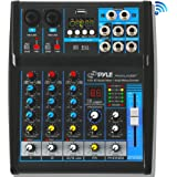 Pyle Professional Audio Mixer Sound Board Console System Interface 4 Channel Digital USB Bluetooth MP3 Computer Input…
