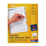 Avery Printable Repositionable Plastic Tabs, 1.25