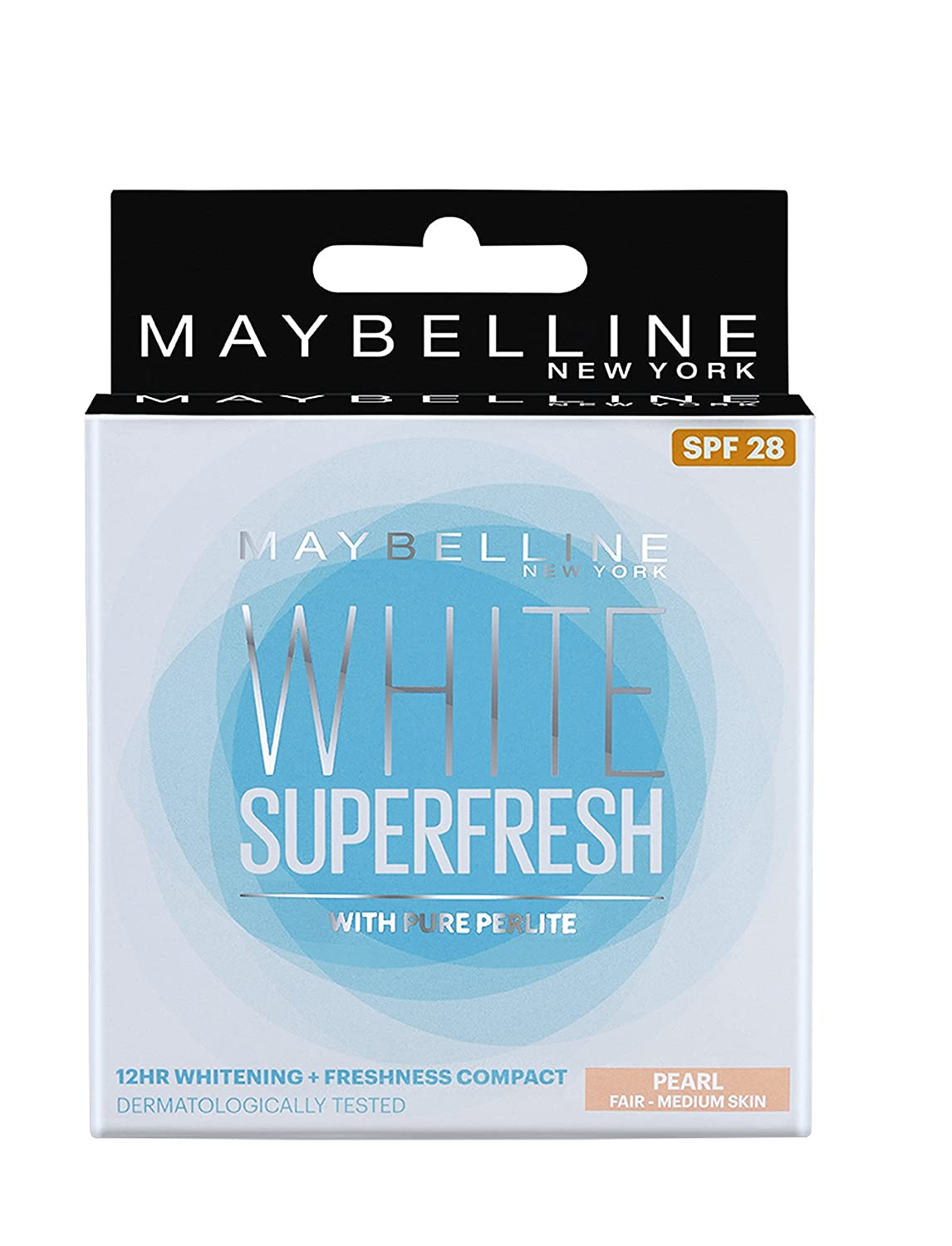 Maybelline New York White Super Fresh Compact, Pearl, 8g