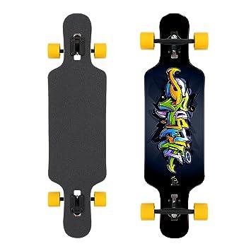 Longboard Completo placas de Jan Banan® - Cruiser Longboards para principiantes, principiantes, niños, niñas y profesionales en varios diseños, ...