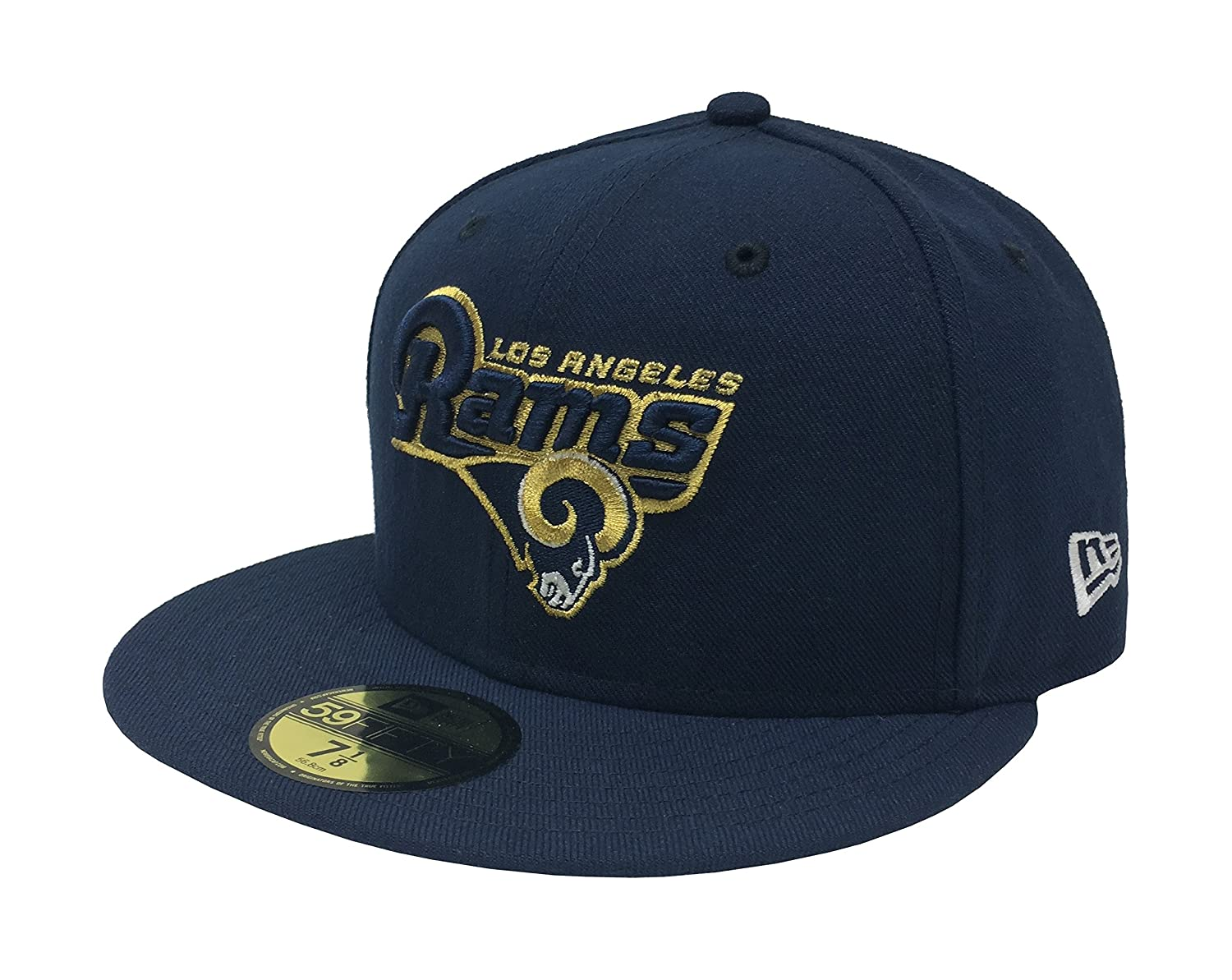 Amazon.com   New Era 59Fifty Cap NFL Los Angeles Rams Fitted Hat - Navy  Blue Gold (6 7 8)   Clothing b268f355d74