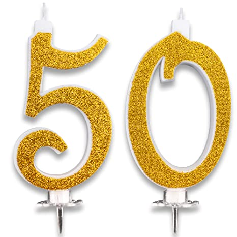 Candeline Maxi 50 Anni Per Torta Festa Compleanno Matrimonio 50 Anni Decorazioni Candele Auguri Anniversario Torta 50 Festa A Tema Altezza 13 Cm