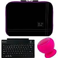 SumacLife Tablet de 8-inch manga para Samsung Galaxy Tab S2con rosa altavoz Bluetooth y Teclado inalámbrico (morado)