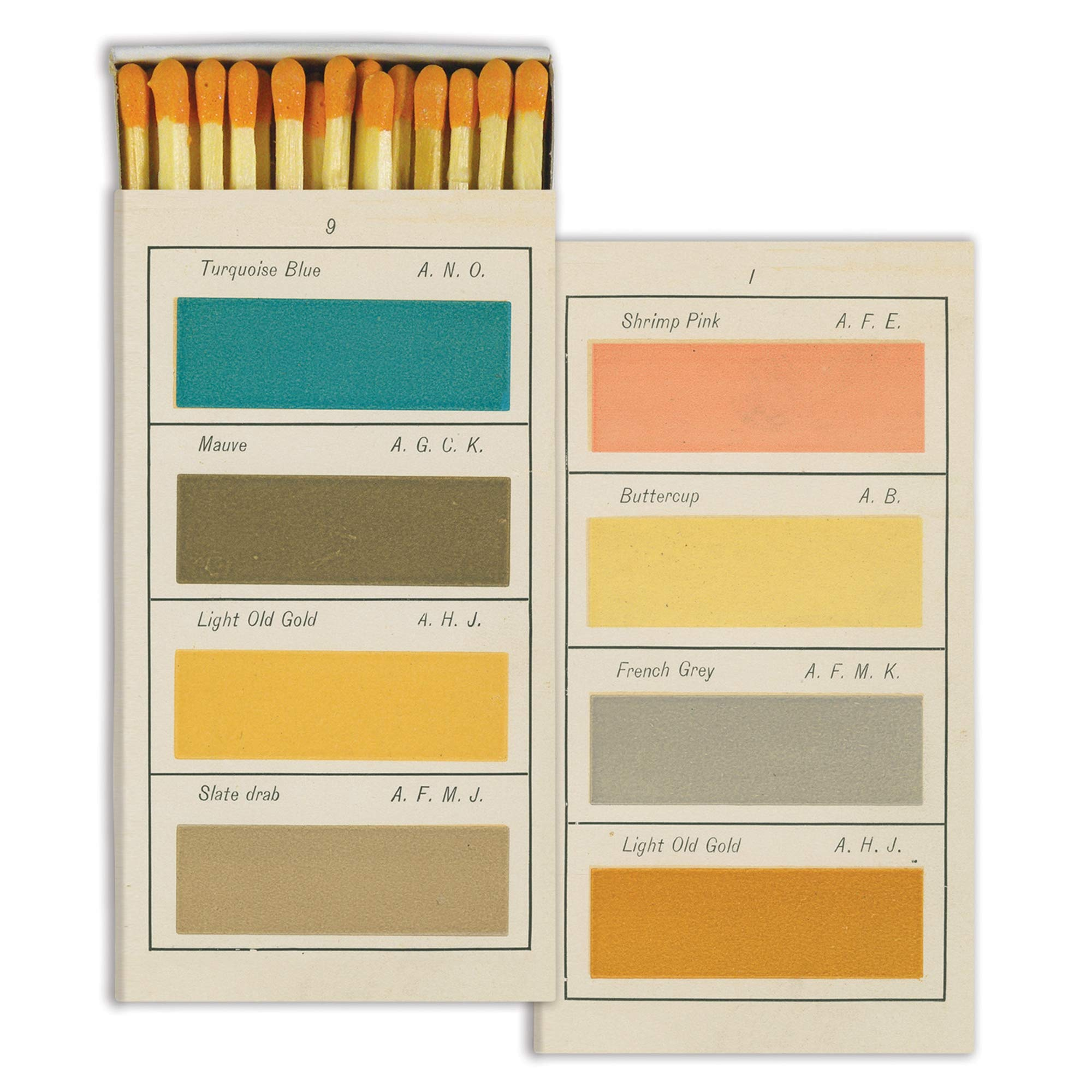 Painters Handbook Match Boxes with Wooden Matches | Set of 3 Decorative Match Boxes