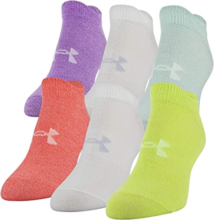 Under Armour womens Essential Lo Cut Socks 6-pairs
