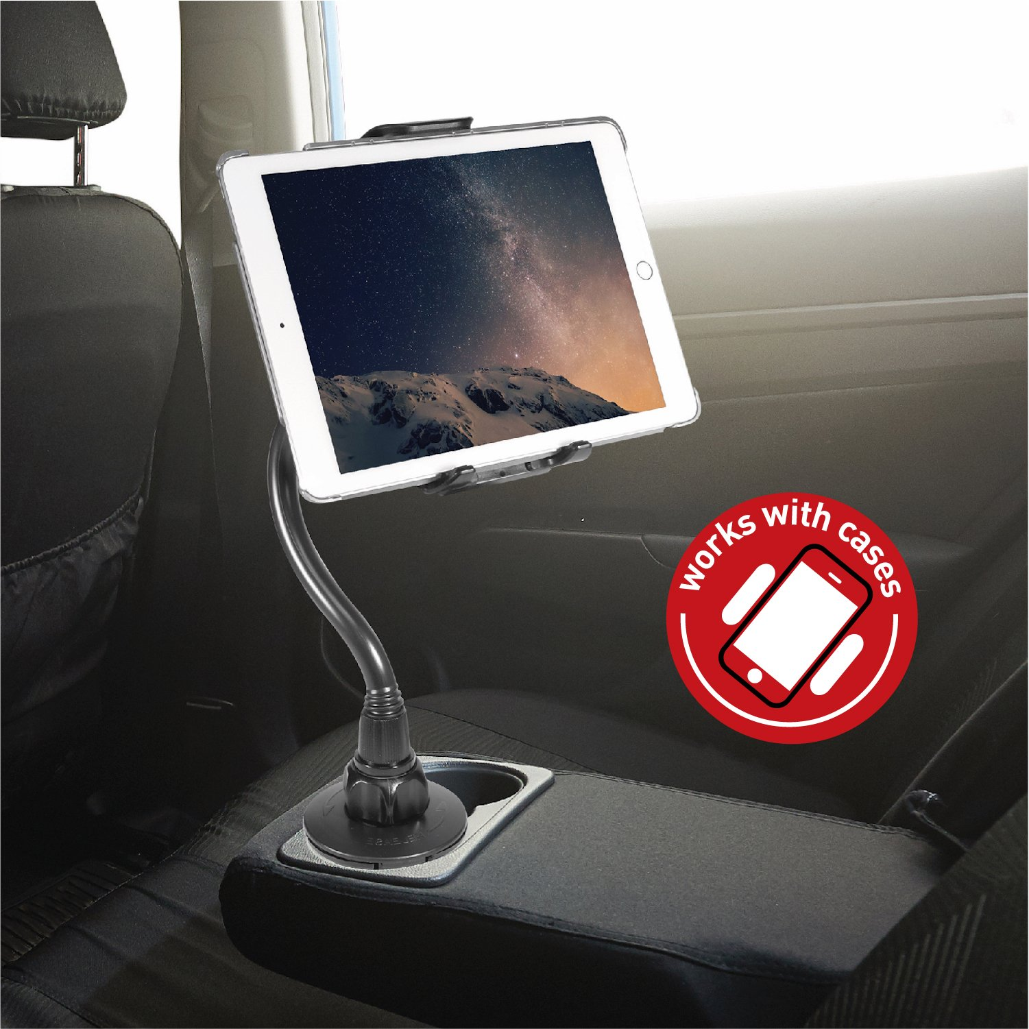 Air Macally 2-in-1 Tablet /& Smartphone Car Cup Holder Mount with Flexible Neck for Apple iPad Pro 10.5 iPhone Xs XS Max XR X 8 8 Plus /& Any Device up to 8 iPhone Xs XS Max XR X 8 8 Plus /& Any Device up to 8 MCUPTAB Samsung Galaxy Tab MCUPTAB Mini