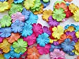 100 pcs Patch Flowers 25x25mm Mulberry Paper scrapbooking wedding doll house supplies card