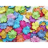 100 pcs Patch Flowers 25x25mm Mulberry Paper Flower scrapbooking wedding doll house supplies card.