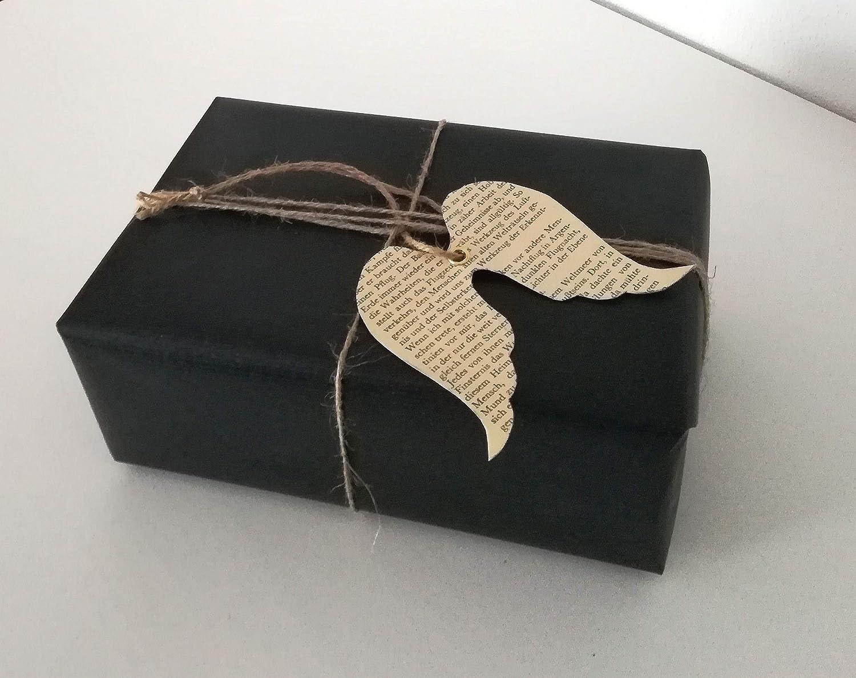 10er-Set GeschenkanhängerEngel aus Buchseiten/Buch Upcycling/Geschenkverpackung/Etikett/Weihnachtsgeschenk
