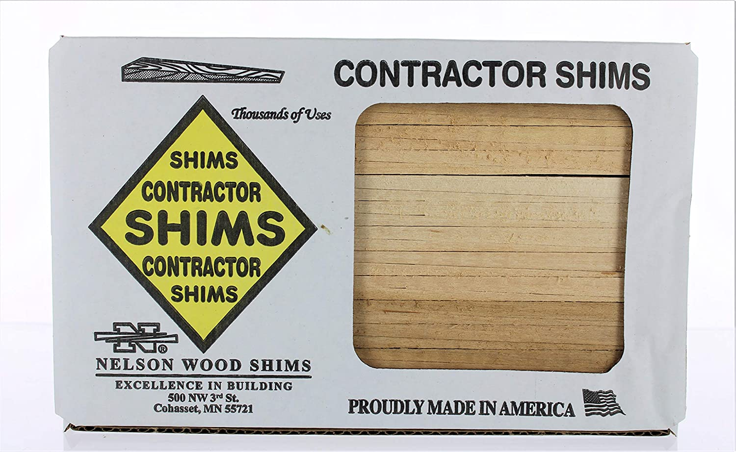 Nelson Wood Shims CSBP56 Csh8/56/120/Mgd 8'' Bulk Contractor