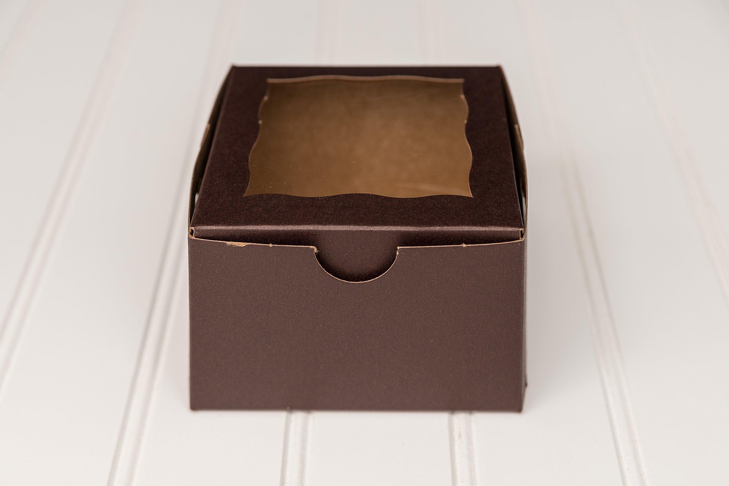 12 Chocolate Brown Single Donut Box 4 x 4 x 2 1/2