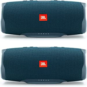 JBL Charge 4 portátil impermeable inalámbrico Bluetooth paquete - (par) azul