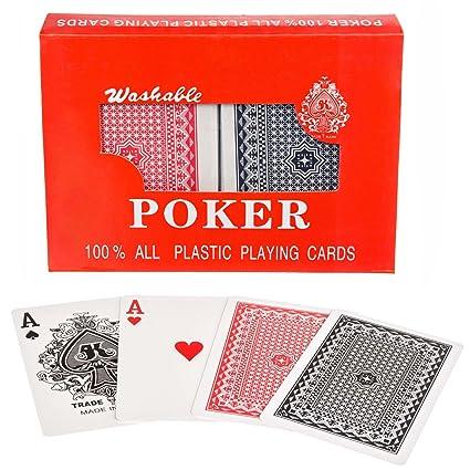 Royal 100% plástico póquer de tarjetas de plástico Tarjetas de naipes doble Deck Set