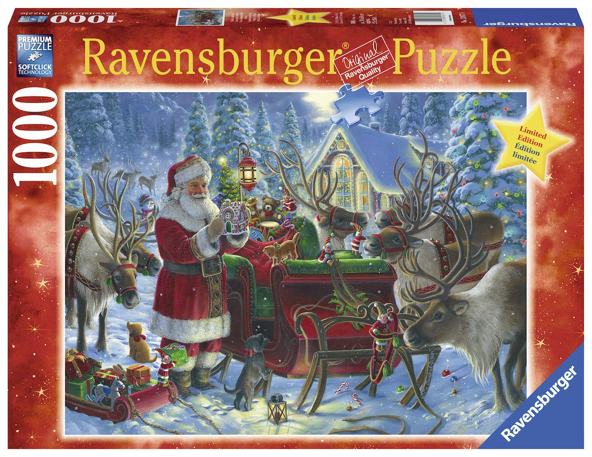 Ravensburger Packing The Sleigh 13977 1000 Piece Holiday Puzzle for Adults Every Piece is Unique Softclick Technology Means Pieces Fit Together Perfectly