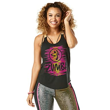 9bc70ed319 Image Unavailable. Image not available for. Color: Zumba Get Up and Dance  Tank - Bold Black Z1T01385