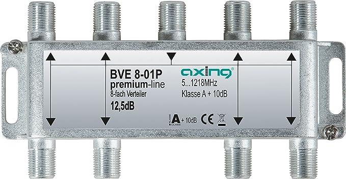 Axing BVE 8-01P Divisor de señal para Cable coaxial Metálico: Amazon.es: Electrónica