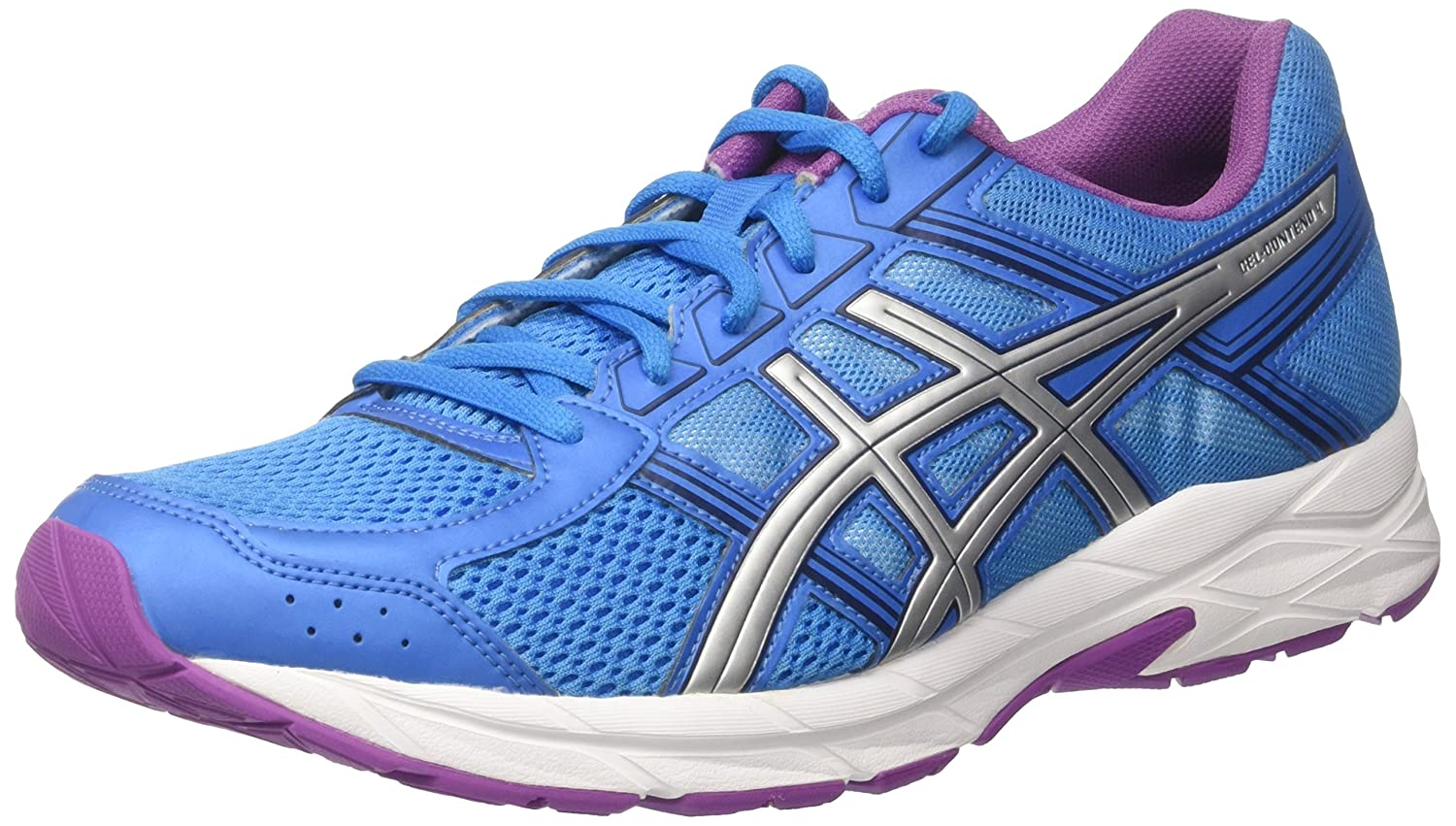 outlet store 1b760 1f4fc ASICS Women s Gel-Contend 4 Competition Running Shoes Multicolor (Diva  Blue Silver Orchid) 3 UK  Amazon.in  Shoes   Handbags