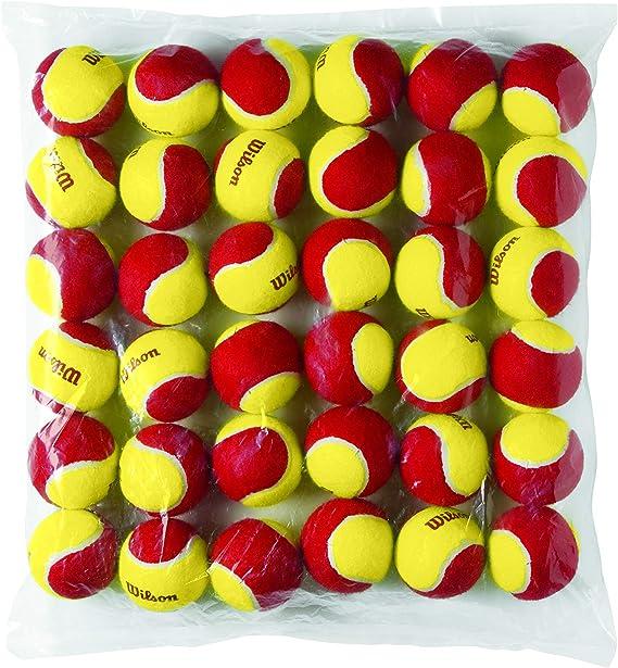 Wilson Starter Red Pelotas de tenis, pack de 36, para niños ...