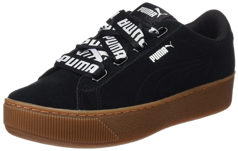 Puma Vikky Platform Ribbon Bold, Zapatillas para Mujer 38.5 EU|Negro (Puma Black-puma Black)