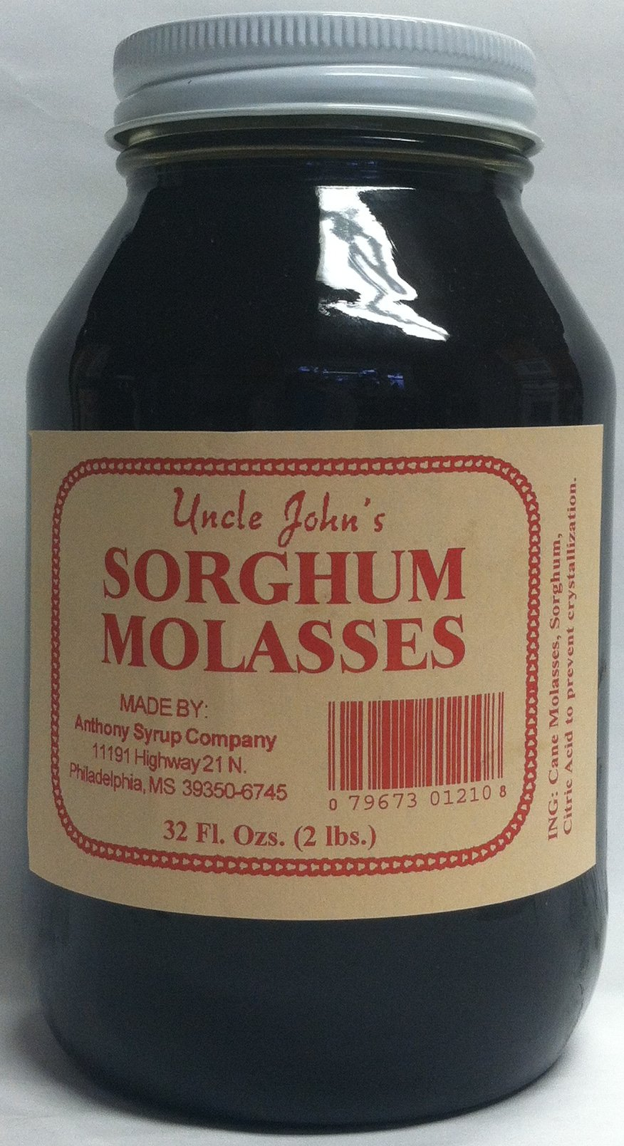 Natural Mississippi Syrup Qt. Sampler Ribbon Cane and Sorghum Syrup by Anthony's Syrup (Image #4)