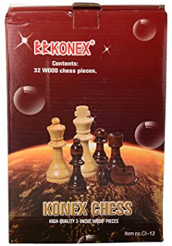 ARFA Aaina Craft -Konex 3 Inch Chess Wooden Coins (White and Brown)