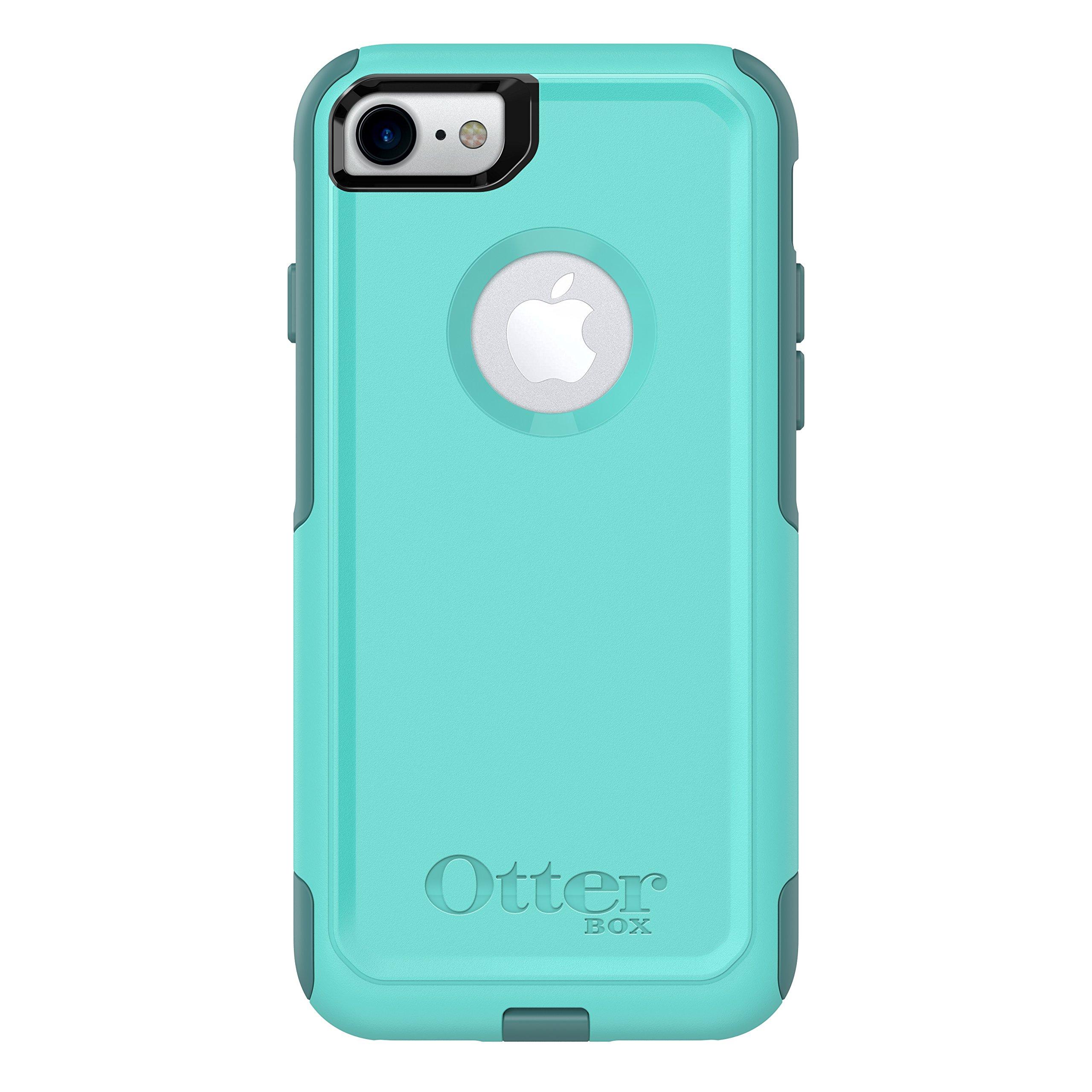 OtterBox COMMUTER SERIES Case for iPhone 8 & iPhone 7 (NOT Plus) - Frustration Free Packaging - AQUA MINT WAY (AQUA MINT/MOUNTAIN RANGE GREEN)