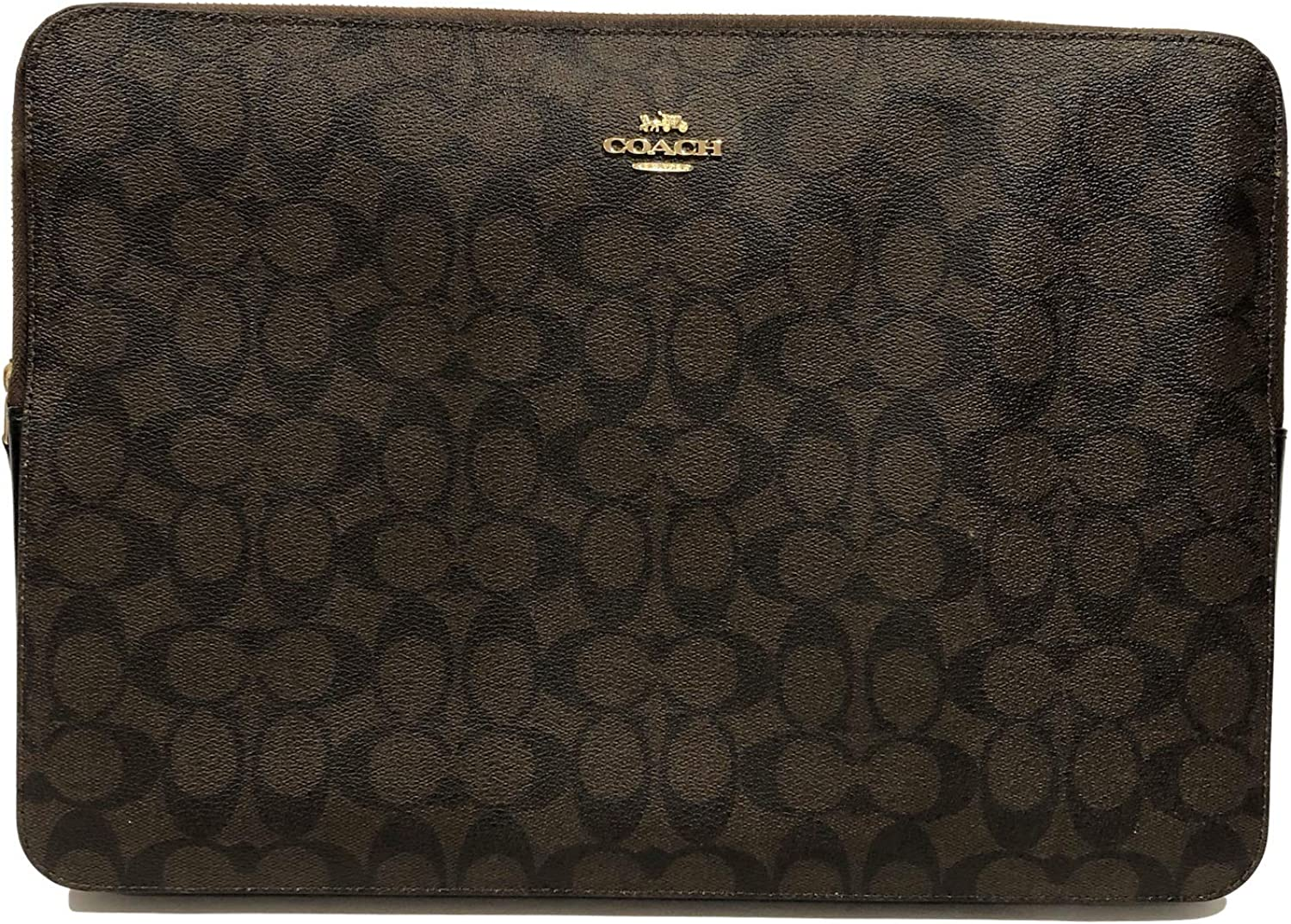 "Coach Crossgrain Leather & PVC 13""-14"" Laptop Sleeve"