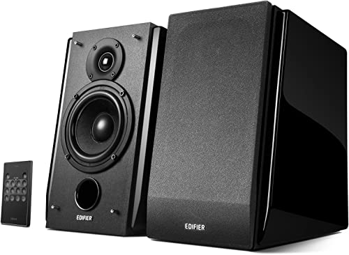 Edifier R1850DB Active Bookshelf Speakers with Bluetooth and Optical Input – 2.0 Studio Monitor Speaker – Built-in Amplifier with Subwoofer Line Out
