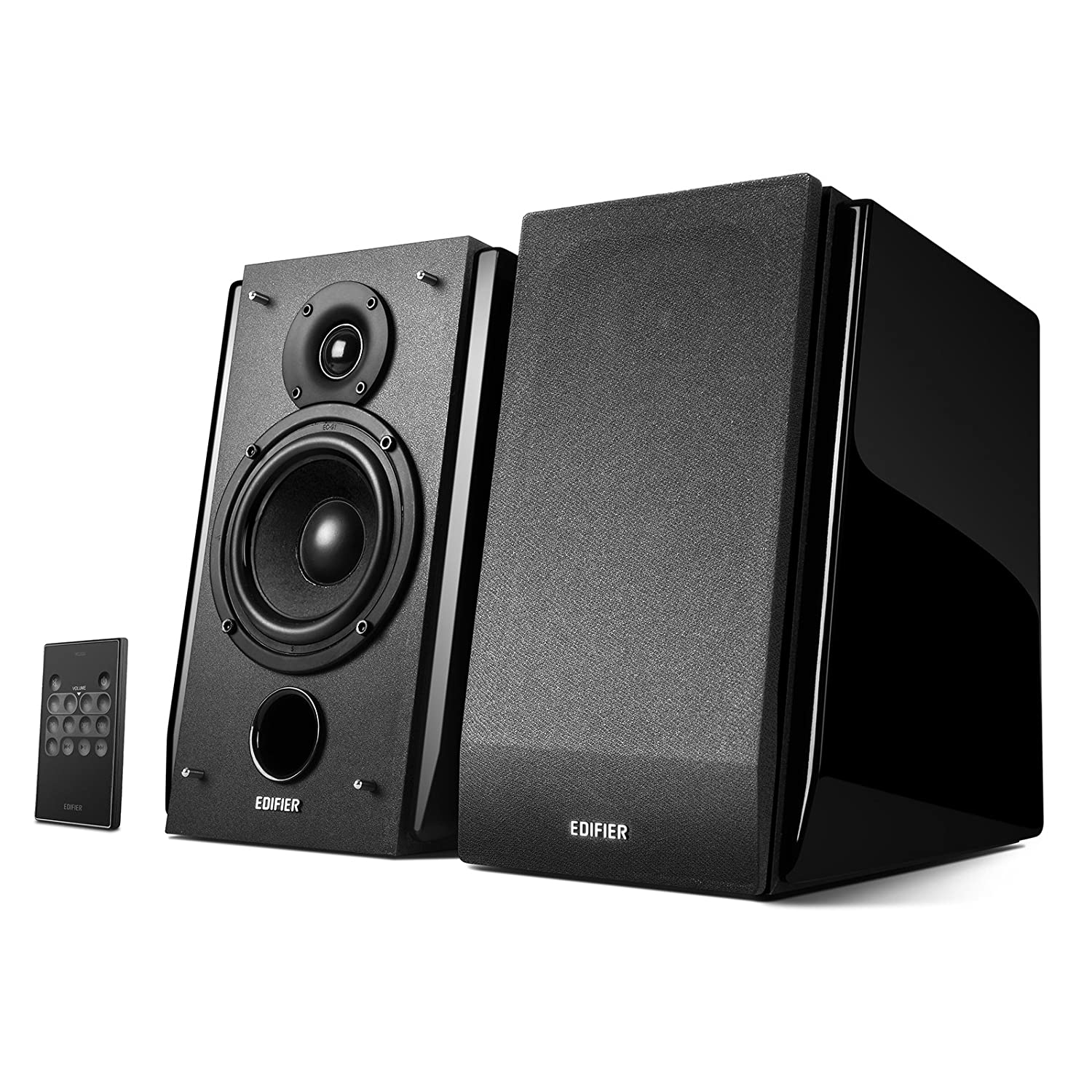 Edifier R1850DB Active Bookshelf Speakers with Bluetooth and Optical Input - 2.0 Studio Monitor Speaker - Built-in Amplifier with Subwoofer Line Out edifier-r1850db-black