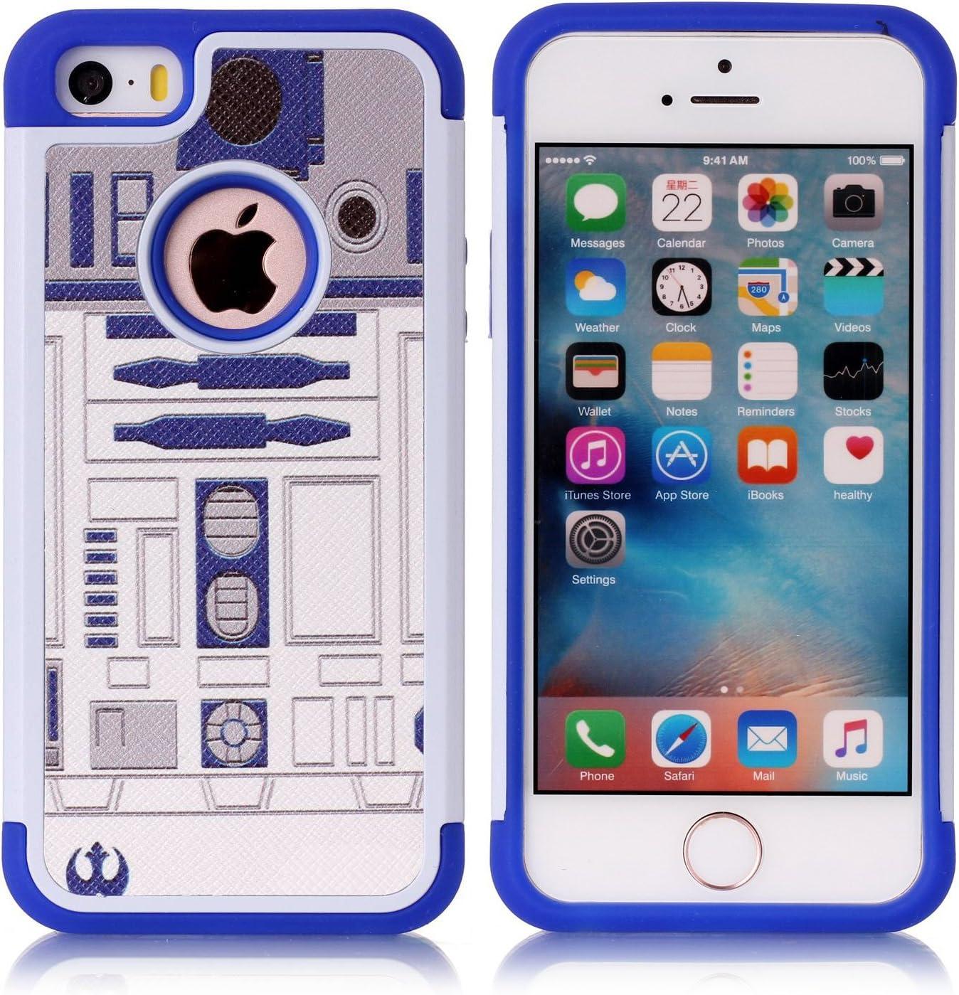 iPhone 5S Case, iPhone 5 Case, R2D2 Astromech Droid Robot Pattern ...
