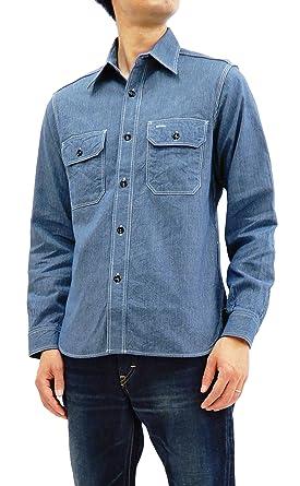 072f521a195 Sugar Cane Men s Casual Slim Fit Corded Stripe Work Shirt Long Sleeve  SC25511 Navy Blue