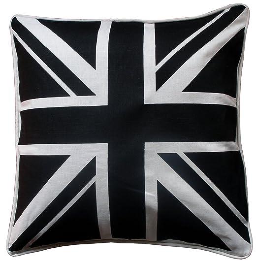 JaaZ Linens * * _ Single _ Black & Blanco Unión Jack bandera ...