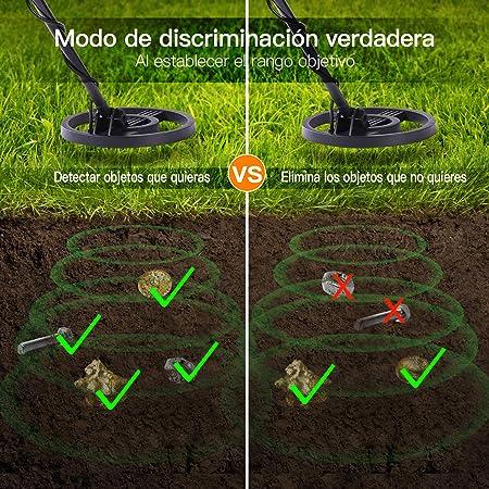 TACKLIFE-MMD02-Detector Básico, Detector de Metales con Bolsa de Transporte, 2 Modos de Metal y Disco: Amazon.es: Jardín