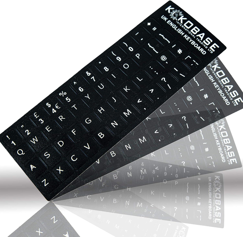 Kokobase® Qwerty - Pegatinas autoadhesivas para teclado ...