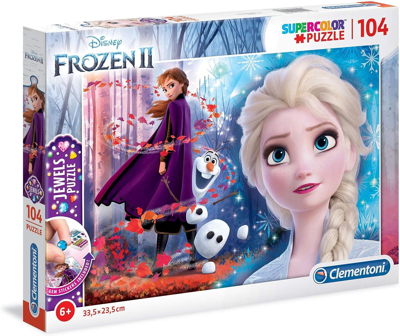 Puzzle Bambini Multicolore Clementoni-Clementoni-27274-Supercolor Disney Frozen 2-104 Pezzi 27274