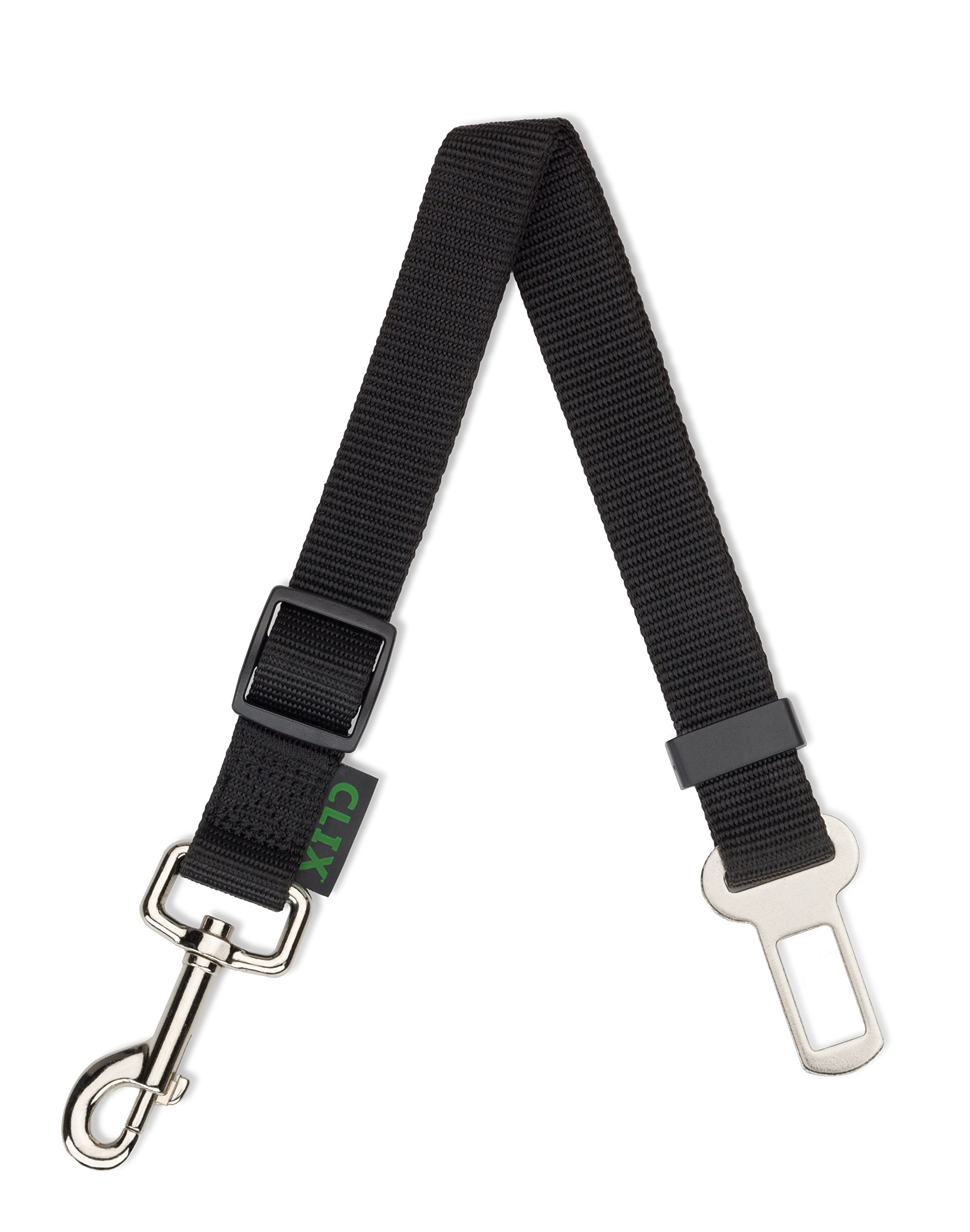 CLIX Universal Seat Belt Restraint, attaches to all harnesses, clicks into any car's seatbelt