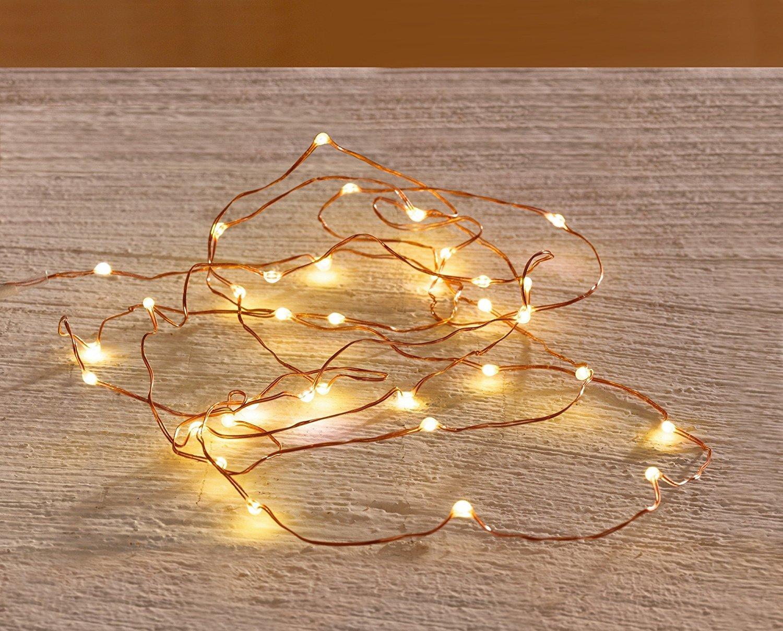 Led Leuchtdraht 100 Lichter warmweiß mit 12V Transformator: Amazon ...