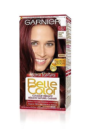 garnier belle color coloration permanente rouge 562 acajou iris riche naturel - Coloration Rouge Permanente