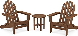 product image for POLYWOOD PWS214-1-TE Classic Adirondack Chair Seating Set in Teak
