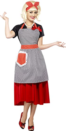 1950s Costumes- Poodle Skirts, Grease, Monroe, Pin Up, I Love Lucy Smiffys 50s Housewife Honey Kit $24.99 AT vintagedancer.com