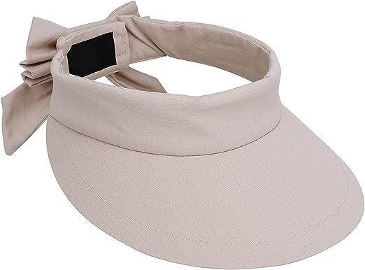 Livingston Women's Packable Wide Brim SPF 50+ UV Protection Sun Visor Hat w/Bow
