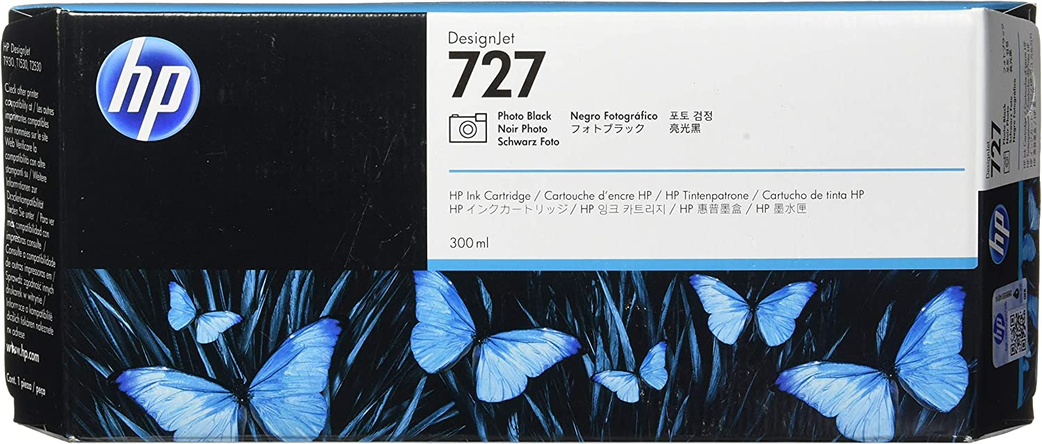Hp 727 Designjet Ink Cartridge, 300 ml - Photo Black