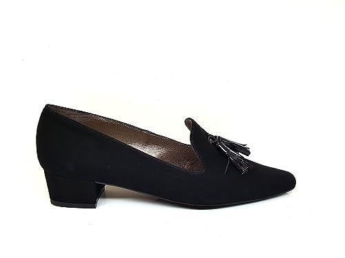 Mocasines de Piel para Mujer con Borlas y Tacon Bajo 3 cm: Amazon.es: Zapatos y complementos