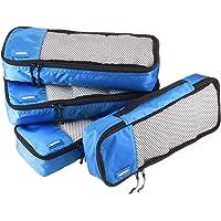AmazonBasics 4-Piece Packing Cube Set - Slim, Blue