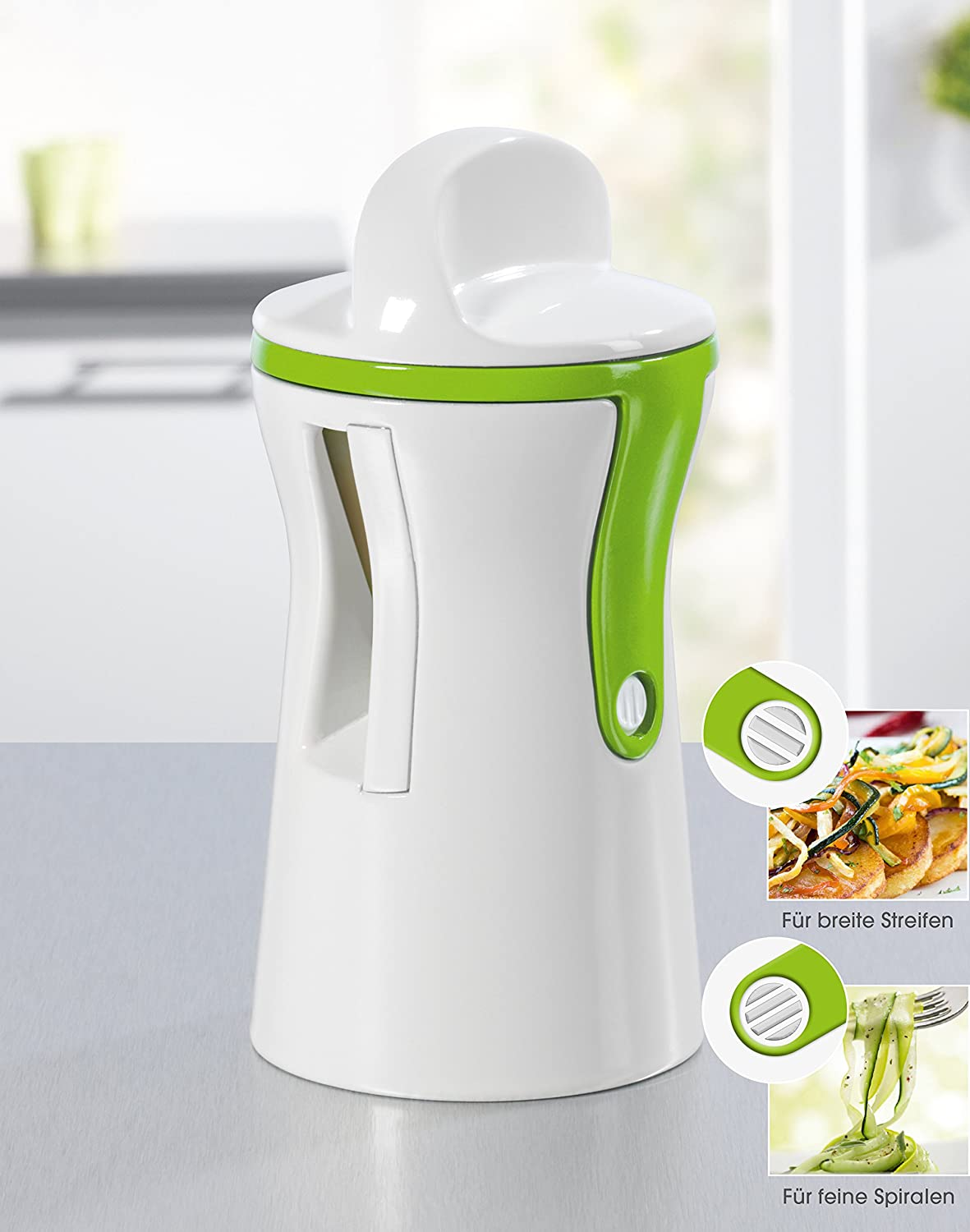 GOURMETmaxx 07293 Julienne And Vegetable Spiralizer | Compact Spiralizer | Fruit And Vegetable Slicer